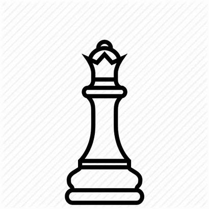 Chess Queen Icon Coloring Strategy Ruler Highness