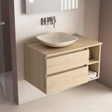 meuble salle de bain ch 234 ne 80 cm 2 tiroirs terra