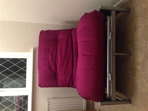 Single Metal Futon Sofa Bed by Argos Single Futon Sofa Bed With Mattress Purple Fizz