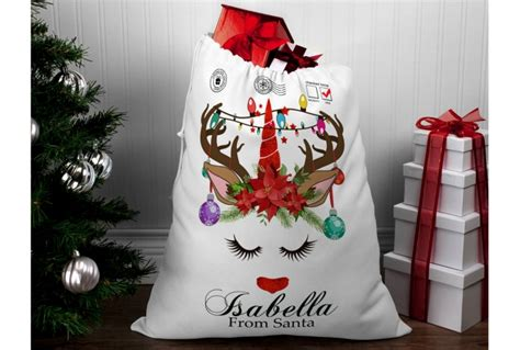 personalised unicorn santa sack cm absolute home
