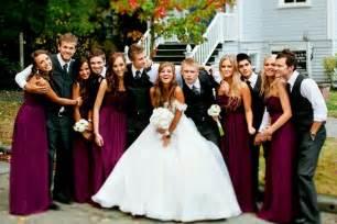 wine color bridesmaid dresses wedding color scheme burgundy dresses gray suits fairytale wedding