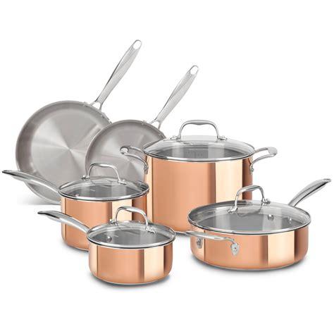 amazoncom kitchenaid kcpskcp tri ply copper  skillet cookware satin copper kitchen