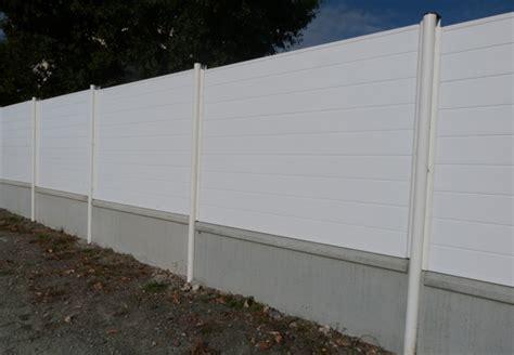 panneau cloture pvc portail pvc blanc coulissant menuisier ebeniste concarneau