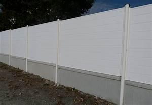 Panneau Pvc Blanc : panneau cloture pvc portail pvc blanc coulissant ~ Dallasstarsshop.com Idées de Décoration