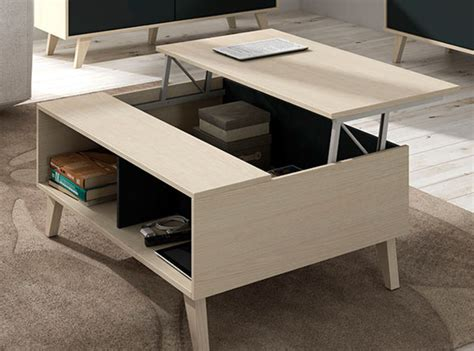 table d appoint cuisine table basse relevable domino chene