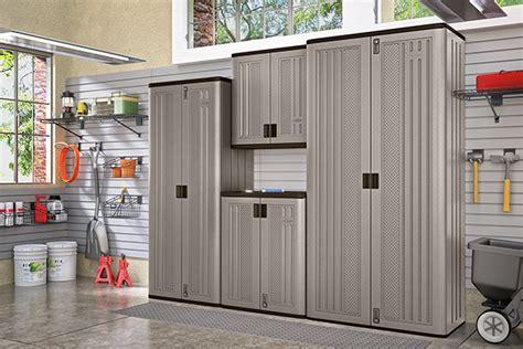 Suncast Plastic Garage Storage Cabinets by Spaces Suncast 174 Corporation Suncast 174 Corporation
