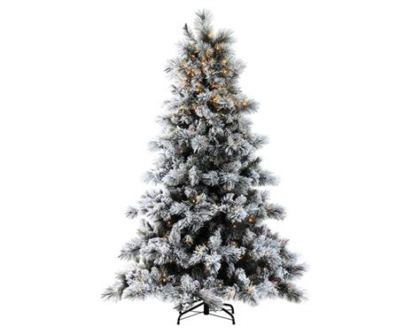 ge nordic spruce christmas tree 7ft pre lit nordic pine glittery flocked artificial tree garden world