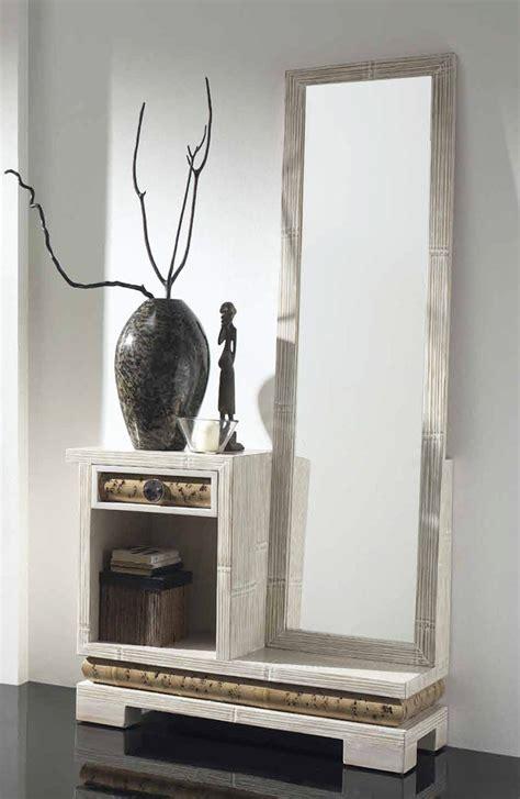 meuble d entree miroir meuble d entr 233 e bambou avec miroir 1291