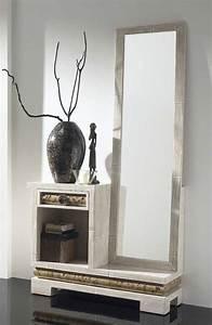 meuble d39entree bambou avec miroir 1291 With porte d entrée alu avec miroir salle de bain avec rangement