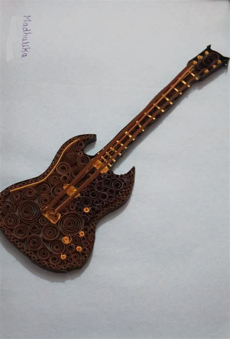 paper quilled guitar paper quilling pinterest