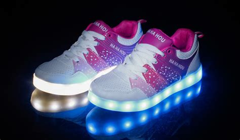 led light shoes for kid 2015 fashion shining glowing kid simulation led light up