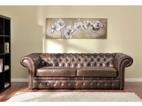 canapé chesterfield cuir canapés et fauteuil chesterfield cuir 2 coloris clotaire
