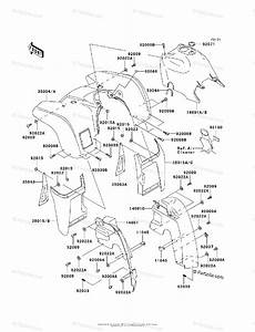 Kawasaki Atv 2005 Oem Parts Diagram For Front Fender S