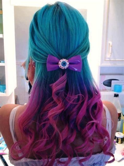 Hair Hair Color Teal Hair Teal Pink Hair Pink Tips