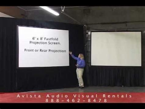 fastfold   tripod projection screen overview