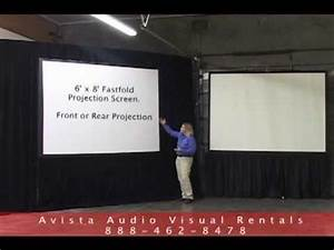 6'x8' Fastfold and 8' Tripod Projection Screen Overview