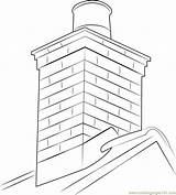 Chimney Coloring Pages Masonry Roof Colouring Drawing Printable Template Sketch Getcolorings Coloringpages101 Getdrawings sketch template