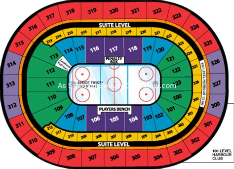 niagara center seating chart view