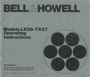 Bell  U0026 Howell Models Lx58 Tx57 Instruction Manual