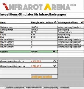 Wasserdruck Heizung Berechnen : infrarotheizung verbrauch f r strom und kosten berechnen ~ Themetempest.com Abrechnung