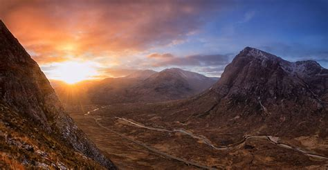 highland sunrise sunrise  rannoch moor   west