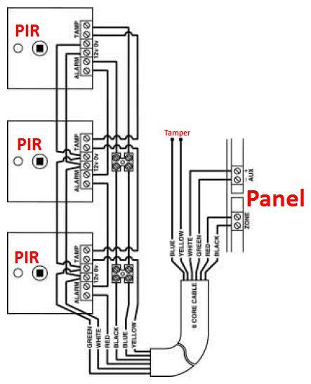 Wiring Two Pir Alarm Sensors Series Confusion Help