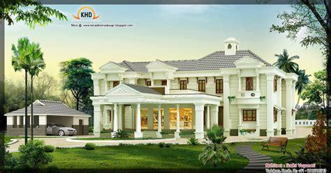 sq ft luxury house design kerala home design  floor plans