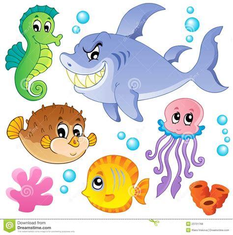 römer max way plus ramassage 4 de poissons de mer et d animaux illustration de vecteur illustration du mod 232 le