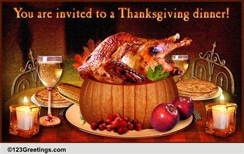 thanksgiving invitation    dinner ecards
