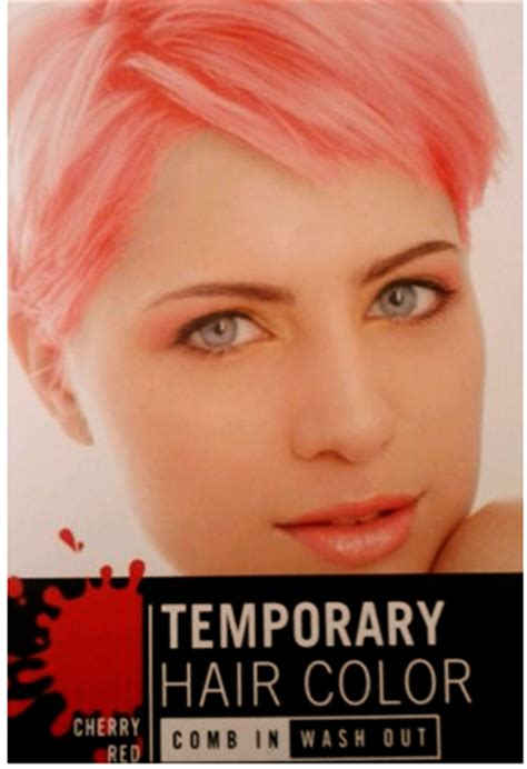 Free Cherry Red Temporary Hair Color Comb Inwash Out