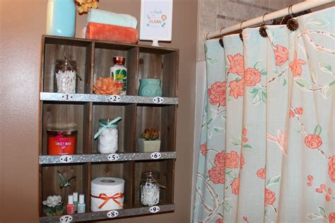 bathroom makeover styled target shelf ellery designs