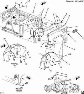2002 Chevy Silverado Wheel Well Parts Diagram
