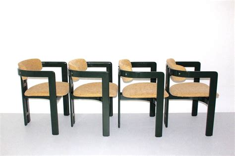 Green Comfortable Dining Chairs Pamplona By Augusto Savini
