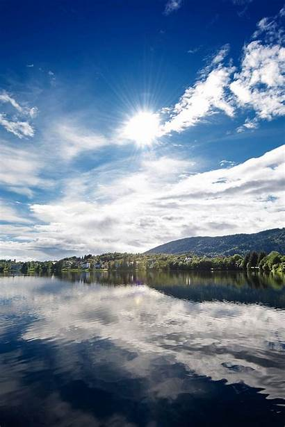 Lake Wallpapers Sunny Iphone Clouds Pro Cool