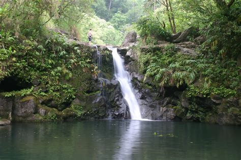 Hana itself is a sleepy little town. Drive-up Waterfalls | Maui Guidebook