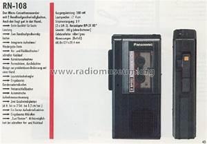 Microcassette™ Recorder RN-108 R-Player Panasonic, Matsushit