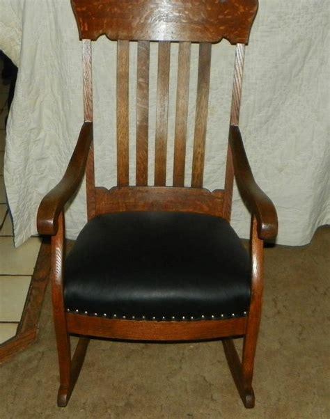quartersawn oak empire slat back rocker rocking chair r143