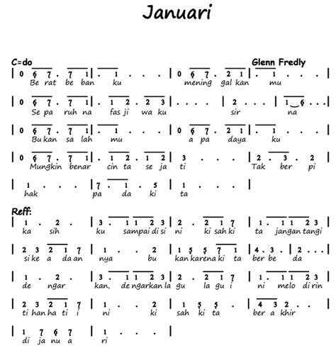 not angka pianika lagu anji dia not angka pianika lagu januari glenn fredly
