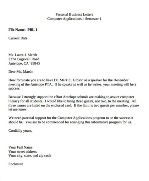 mailing letter format 25 images of prank meeting letter template unemeuf 23538 | personal business letter format email 77103