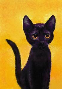portrait of a small black cat named LuLu Digital Art by ...