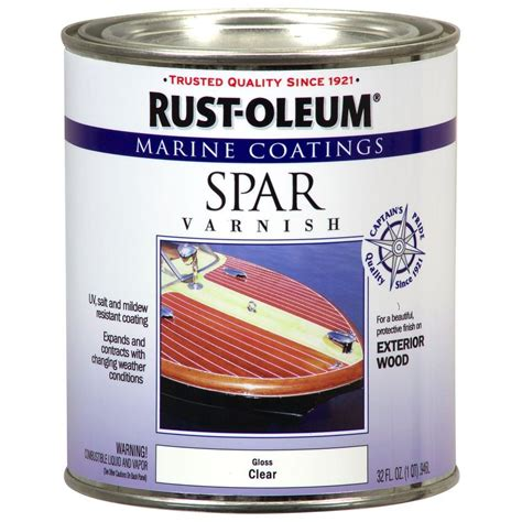 Rustoleum Marine 1 Qt Clear Gloss Spar Varnish Coatings