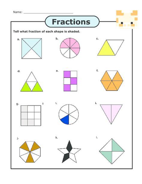 free worksheets 187 parts of a fraction worksheet free