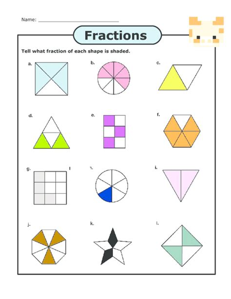 Printables Basic Fractions Worksheet Mywcct Thousands Of Printable Activities
