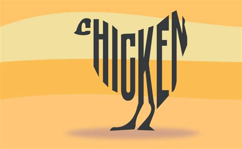 a chicken made of text by john lemasney via 365sketches org inkscape design typography lemasney
