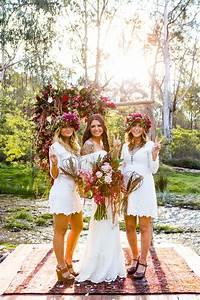 Tenue Mariage Boheme : dale luke mariage festival hippie chic glamping funky wedding ~ Dallasstarsshop.com Idées de Décoration