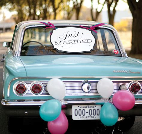 just married decorations for car just married car sign just married car decorations