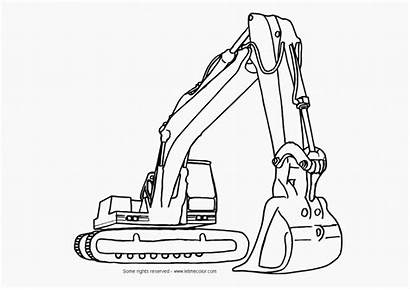 Coloring Construction Pages Equipment Printable Popular