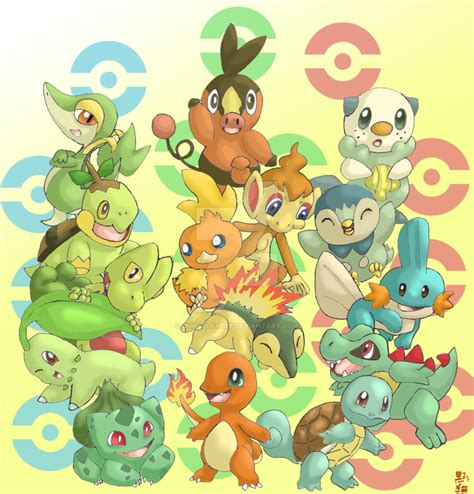 All Starters By Dunkelkatze On Deviantart