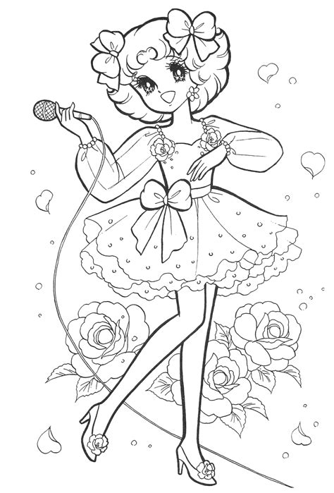 Japanese Anime Coloring Pages Sketch Coloring Page