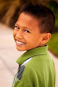 Happy Young Asian Kid Smiling And Laughing. Stock Image ...